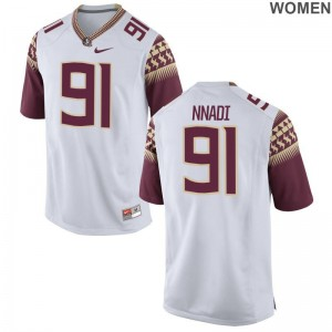 Derrick Nnadi Florida State Jersey For Women White Game