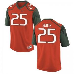 Mens Game Orange Miami Jerseys of Derrick Smith