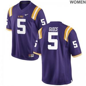 Derrius Guice Limited Jerseys Womens NCAA Louisiana State Tigers Purple Jerseys