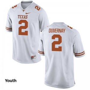 Youth(Kids) Devin Duvernay Jerseys S-XL Longhorns White Limited