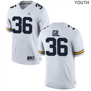 Youth Game Michigan Wolverines Jersey of Devin Gil - Jordan White