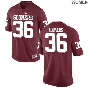 Oklahoma Sooners Football Jerseys Dimitri Flowers Ladies Game - Crimson