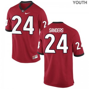 Limited Youth(Kids) UGA Jersey S-XL of Dominick Sanders - Red