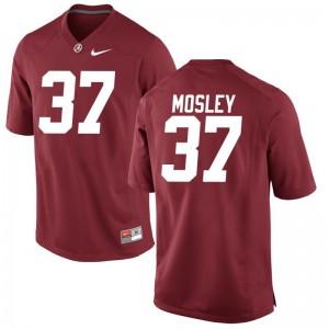 Mens Donavan Mosley Jerseys S-3XL Alabama Red Game