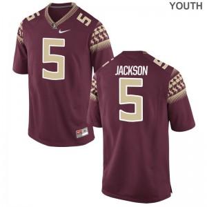 Dontavious Jackson Seminoles High School Jersey Game Youth(Kids) Garnet