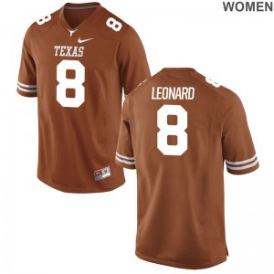 Longhorns Dorian Leonard Jersey S-2XL Limited Womens Orange
