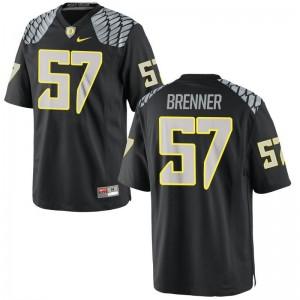 Oregon Doug Brenner NCAA Jersey For Men Black Game Jersey