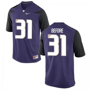 Drew Before For Men High School Jersey Washington Game - Purple