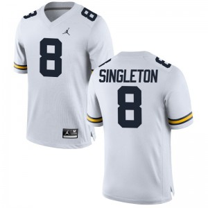 University of Michigan Drew Singleton Jerseys S-3XL Limited Jordan White Men
