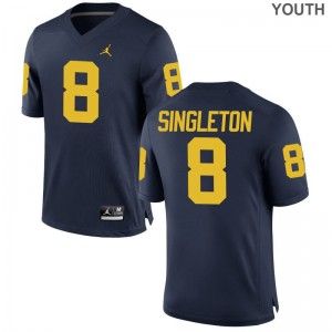 Drew Singleton Jerseys Michigan Jordan Navy Game Youth High School Jerseys