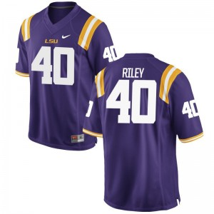 Duke Riley LSU Tigers Youth Jersey Purple College Limited Jersey