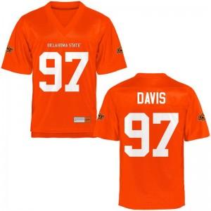OSU Cowboys Eric Davis College Jerseys Orange Womens Game