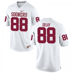 Youth(Kids) White Limited OU Sooners High School Jerseys of Eric DeLay