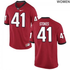 Georgia Bulldogs Eric Stokes Jerseys S-2XL Red Womens Game