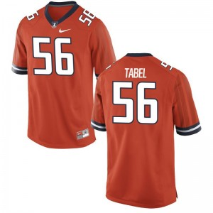 Illinois Ethan Tabel Football Jersey Game Orange Mens
