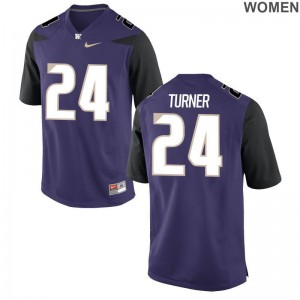 Ezekiel Turner Washington Huskies For Women Jersey Purple NCAA Game Jersey