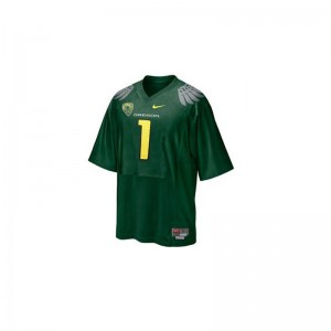 University of Oregon Jersey S-2XL Fan Game Ladies - Green With PAC-12 Patch