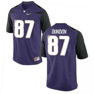 UW Forrest Dunivin For Men Game Jersey Purple