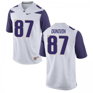 Forrest Dunivin For Men Football Jerseys Limited Washington Huskies - White