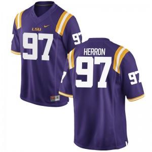Frank Herron Louisiana State Tigers Purple Mens Game High School Jerseys