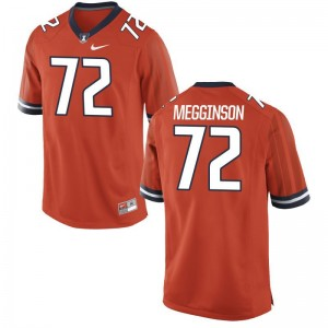 Game Orange Mens Illinois Fighting Illini NCAA Jersey Gabe Megginson