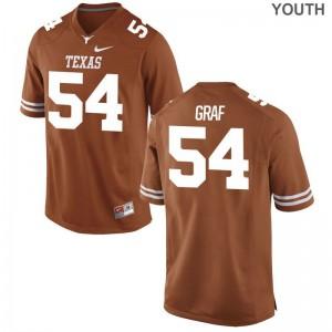 Garrett Graf Game Jerseys Youth Alumni Texas Longhorns Orange Jerseys