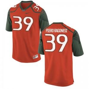 Limited Miami Hurricanes Gian Piero Ragonesi Youth Jerseys S-XL - Orange