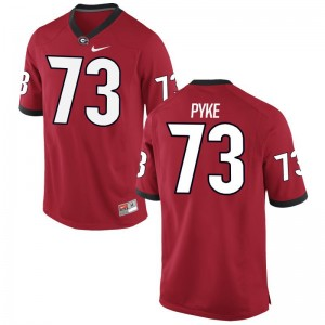 Greg Pyke University of Georgia Mens Jerseys Red Game Jerseys