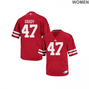 Griffin Grady Wisconsin Badgers Jersey Red Ladies Authentic