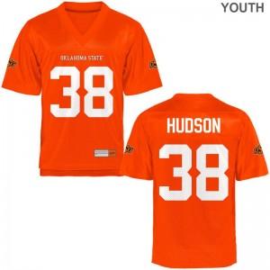OSU Cowboys Gunner Hudson Jerseys Limited Orange Youth(Kids) Jerseys