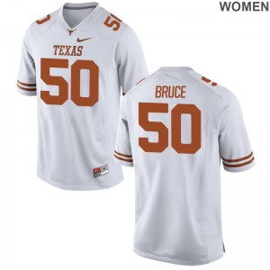 Longhorns Hayden Bruce Football Jersey For Women White Game