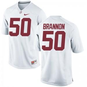 Game Hunter Brannon Jerseys S-3XL For Men University of Alabama - White