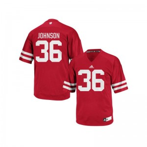 Wisconsin Badgers Football Jersey Hunter Johnson Authentic Red Mens