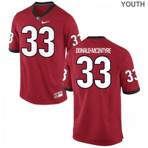 Ian Donald-McIntyre Kids Georgia Bulldogs Jersey Red Game NCAA Jersey