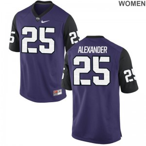 Isaiah Alexander Womens Jersey S-2XL Horned Frogs Limited Purple Black