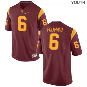 Isaiah Pola-Mao Trojans Jerseys Youth Limited Jerseys - White
