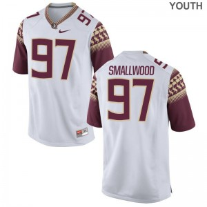 FSU Seminoles Game White Youth Isaiah Smallwood Jersey S-XL