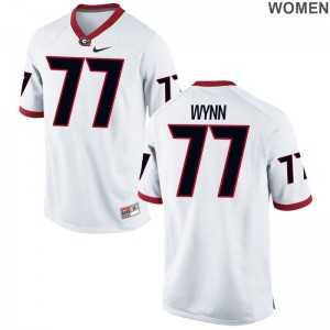 Limited Isaiah Wynn Jersey S-2XL UGA White Womens