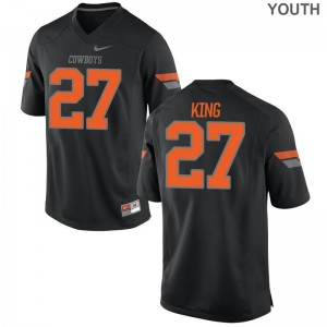 J.D. King Oklahoma State Kids Game Player Jersey - Black