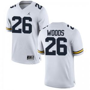 Wolverines J'Marick Woods Jerseys S-3XL Game Mens - Jordan White