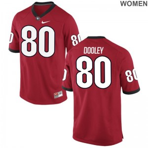 J.T. Dooley Georgia Bulldogs Jersey Game For Women Jersey - Red
