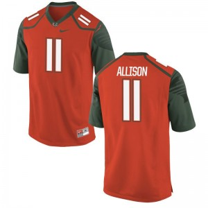 Jack Allison Miami Hurricanes Player Jerseys Limited Mens Orange