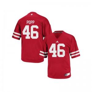 University of Wisconsin Jack Popp For Men Authentic Jerseys Red