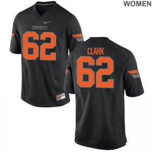 Oklahoma State College Jersey of Jacob Clark Womens Game - Black