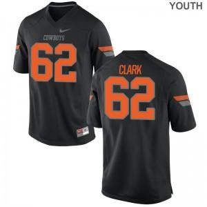 Jacob Clark Oklahoma State Jerseys Black For Kids Game Jerseys