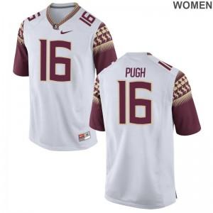 FSU Seminoles Jerseys S-2XL of Jacob Pugh Women Limited - White