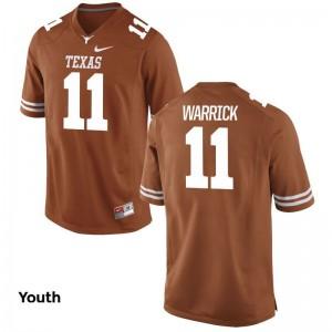 University of Texas Jacorey Warrick For Kids Limited Jerseys Orange