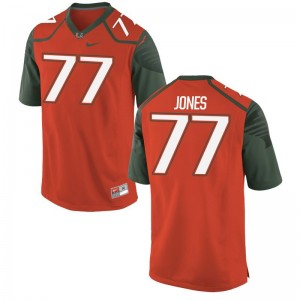 Hurricanes Jahair Jones NCAA Jerseys Orange Mens Game