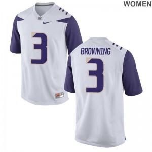 Washington White For Women Limited Jake Browning NCAA Jersey