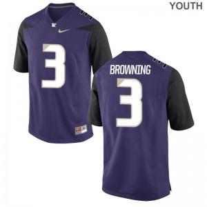Jake Browning Youth(Kids) Jerseys Game University of Washington - Purple